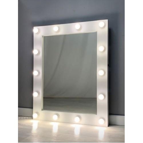 Гримерное зеркало с освещением 100х80 см 14 ламп