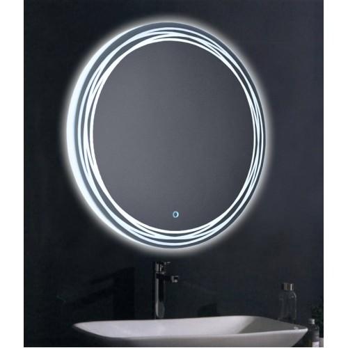 Круглое зеркало с подсветкой в ванной Арабелла
